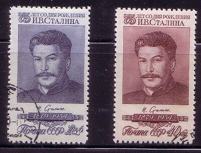 Russia 1954 Sc#1743 -44 Joseph Stalin  75 Ann 2 Stamps Ctomnh
