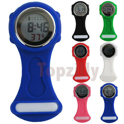 Colorful Multi-function Digital Silicone Rubber Nurse Watch Fob Watch Gift