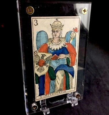 Authentic c1845 The Empress Antique Tarot Playing Cards Historic Italy Single