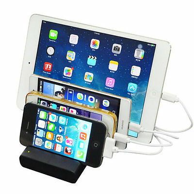 4-Port USB hub Charging Dock Station Charger Stand organizer -Tablet/iPAD/Phone