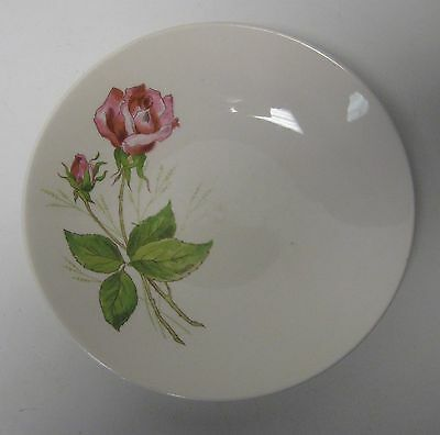 """Knowles, Edwin Tea Rose Coupe Soup Cereal Bowl About 7 3/4"""" U.S.A. 53-2"""