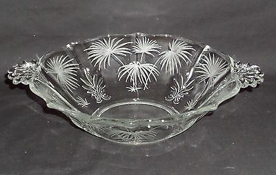 "Fostoria LIDO CRYSTAL *8 3/4"" HANDLED BOWL*"