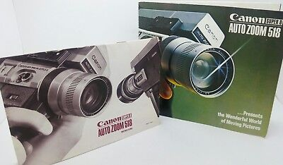Original CANON SUPER 8 Auto Zoom 518 camera Instruction Manual & Brochure