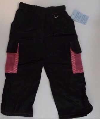 TODDLER BLACK PANTS With PINK STITCHING & PINK FISHNET POCKETS NWT