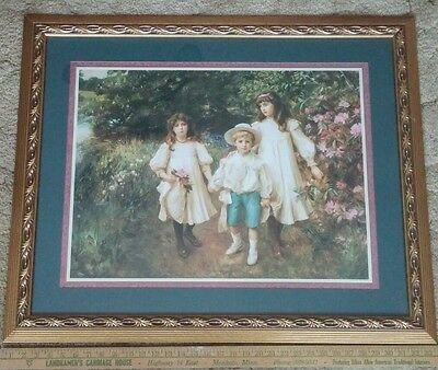 28 x 34 Hostess Exclusive Home Interiors & Gifts Peony Garden Children Portrait
