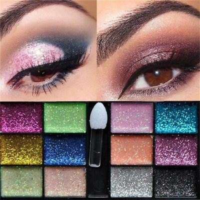 New 12 Colors EyeShadow Glitter Party Makeup Beauty Eyeshadow Palette Fashion