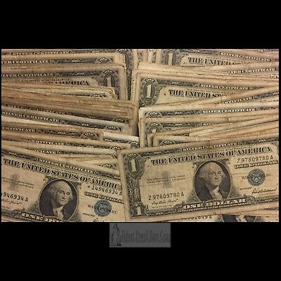 Pack of 100 Small Size Silver Certificate $1 Bills.