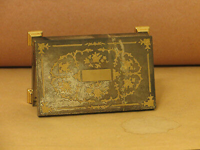 Victorian style BRASS Gilt jewellery box, Italy vintage Antique