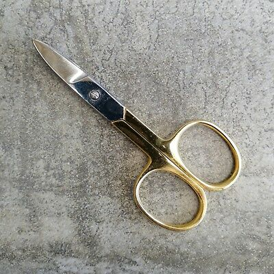 Birch Needlework Scissors Curved Tip Gold Plated Stainless Steel Embroidery