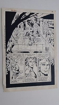 Flash Gordon Issue #7 Dec. 1988 Original Comic Art Page Jurgens Patterson