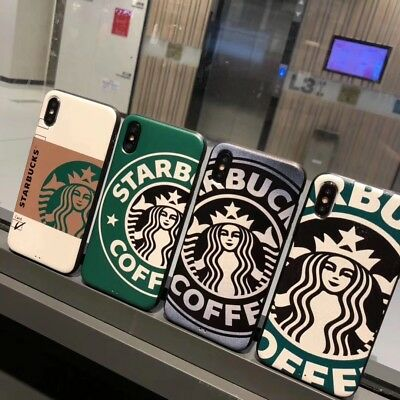 Fashion Starbucks Coffee Cup Phone Case Back Cover For Apple iPhone 6/7/8/X Plus