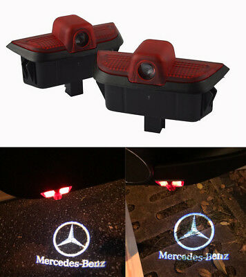 LED Car Door Welcome Projector Logo Courtesy Ghost Shadow Light for C-Class W204