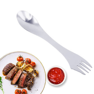 3 in 1 Stainless Steel Fork Spoon Spork Camping Cooking Utensils Kitchen Tools