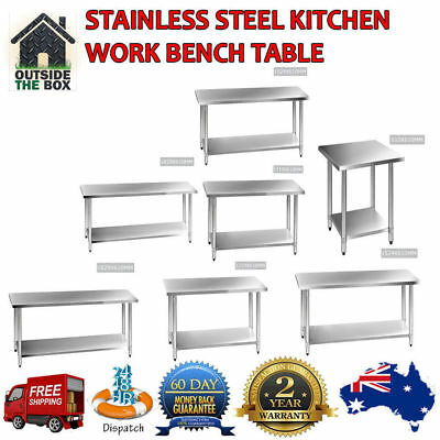 Stainless Steel Kitchen Work Bench Table Safe & Reliable Design 2 YEARS WARRANTY