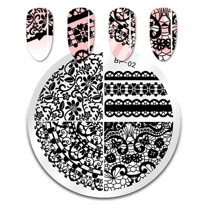 Nail Art Stamping Image Plates Lace Design Stamp Template Stencil Born Pretty