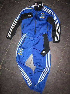 TRAININGSANZUG, ADIDAS, HSV, blau, Gr. 140