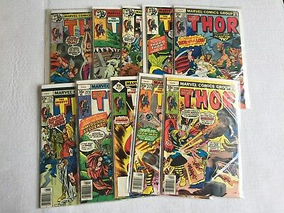 Thor Lot  11--Issues 270,271,272,273,274,275,276,277,278,279