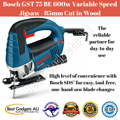 Bosch GST 75 BE 600w Variable Speed Jigsaw - 85mm Cut In Wood Power Tools Saw