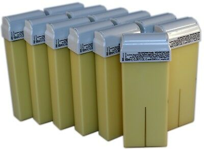 Lot De 12 Roll-On 100Ml Cire Tiède Blanche Pour Epilation (Non Made In China)