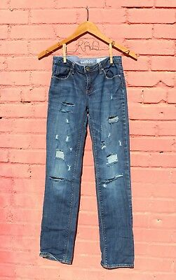 Gap Kids 14 Jeans Super Skinny Boys Girls Distressed Ripped Pants Denim Custom