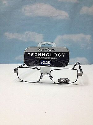 0b917b9ff689 +3.25 FOSTER GRANT TECHNOLOGY PREMIUM READING GLASSES Carbon Fiber Temple  Inlay