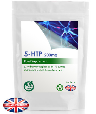 5-HTP High Strength 100mg - 30/60/90/120/180 Tablets - Natural Stress Relief, UK