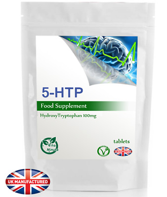 5 HTP Tablets 100mg - Increase Serotonin, Fights Depression Insomnia Anxiety, UK