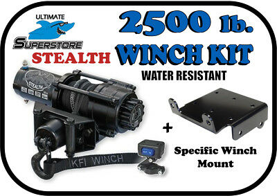 2500lb Mad Dog Synthetic Winch//Mount /'14-15 Arctic Cat Prowler 500 HDX /& 700 HDX