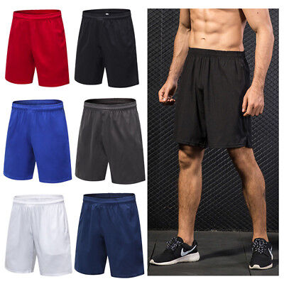 Fashion Men's Solid Quick-dry Gym Fitness Running Training Short Trouser Shorts