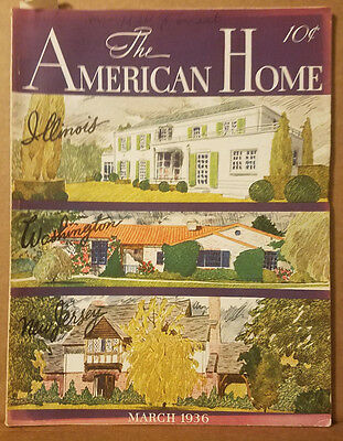 March 1936 - Vintage The American Home Magazine