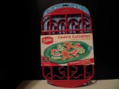 Mrs Fields Christmas Cookie Cuttables Cutters Gingerbread Man Candy Cane Tree
