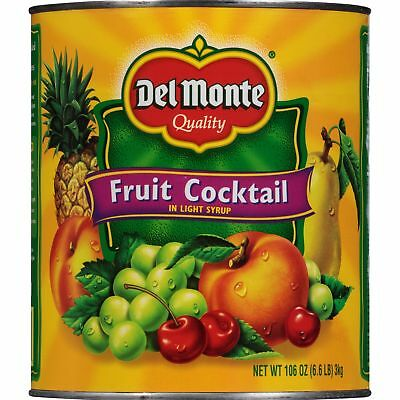 Del Monte Quality Fruit Cocktail In Light Syrup, 106 oz