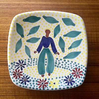 Vintage Ceramic Dish, Made In Norway, Graveren 787/SP, Hand Painted
