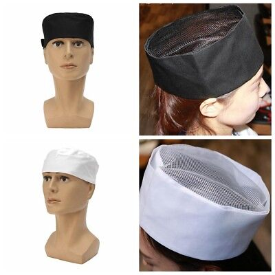 Professional Chefs Mesh Top Skull Cap Restaurant Kitchen Cook Hat Chef Catering