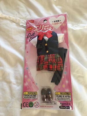 New Japan Pullip Blythe Licca Elly 9/'/' Doll Cute Bright Pink Cheerleader Outfit