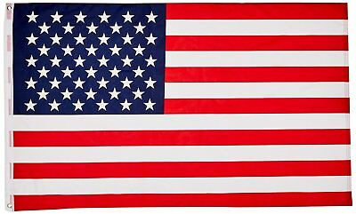 3x5 American Flag Made In Usa Stars Embroidered Sewn Grommets Stripes Nylon USA