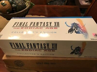 Final Fantasy XII: The Zodiac Age Collector's Edition (PS4) NEW SEALED RARE!