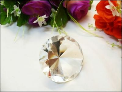 40mm Clear Crystal Diamond Shape Paperweight Glass Gem Display Ornament Gift Box