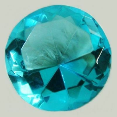 50mm Aqua Teal Crystal Diamond Shape Paperweight Glass Gem Display Ornament Gift
