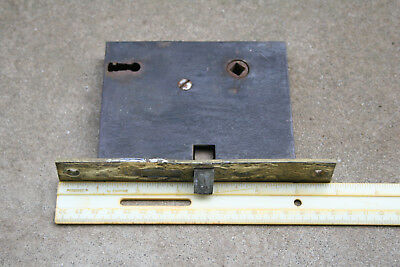 Vintage Door Lock Mortise Type Skeleton No Key Brass Plate Hardware