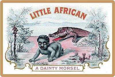 1900's Little African Cigar Label Image NEW! Repro Refrigerator Magnet