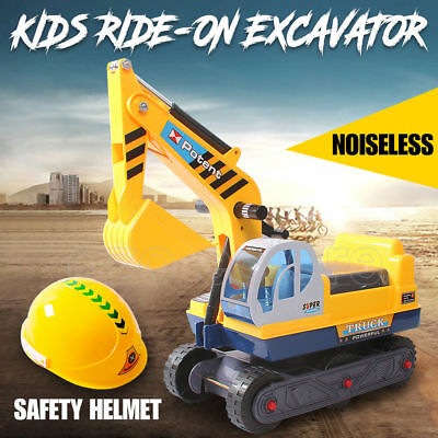 Kid Pretend Play Ride On Excavator Sand Digger Car Toys Child Power Construction