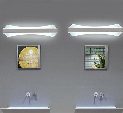 Modern Bathroom Rectangle Wall Light Mirror Front LED Lighting Waterproof
