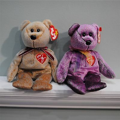 Ty Beanie Babies Baby Signature Bears 1999, 2000 Set Of 2 3+ Boy&girl