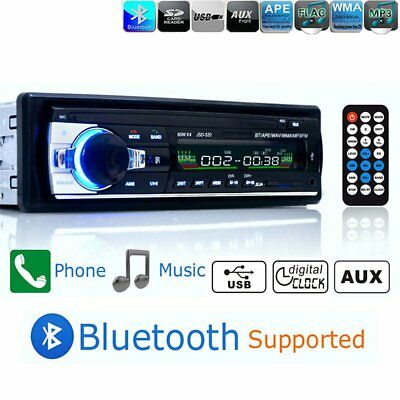 Bluetooth 1 BIN Car Receiver MP3/USB/SD/AUX-IN FM Radio Player For Amplifier