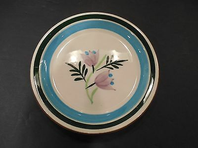 """Stangl Pottery Multi-Colored Flower 5"""" Plate Coaster Country Garden"""