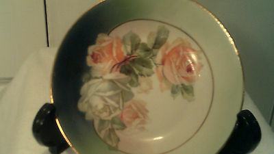 """5 1/4"""" Small Plate Made In Germany  Has Roses & Trimmed In Gold"""