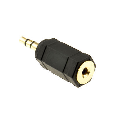 2.5mm Stereo Socket to 3.5mm Stereo Jack Plug Adapter Gold Plated [008705]