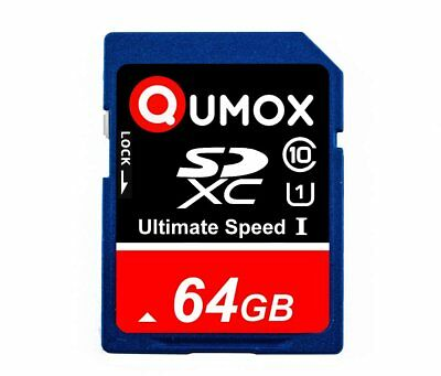 64GB QUMOX 80MB/s Class 10 UHS-I  SDXC SD Speicherkarte XC Card Karte 64 GB Dec