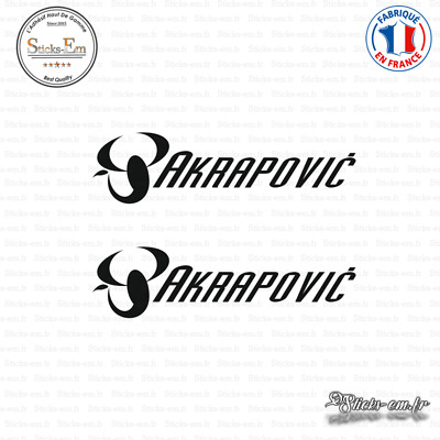 2 Stickers Akrapovic Decal Aufkleber Pegatinas AKR03 Couleurs au choix
